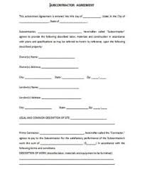 Subcontractor Agreement Format Subcontract Agreement Format Template Business