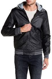 Yoki Faux Leather Hooded Jacket Nordstrom Rack
