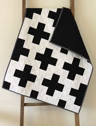 Cross Quilt Pattern Inspiration Craftyblossom Black And White Cross Quilt
