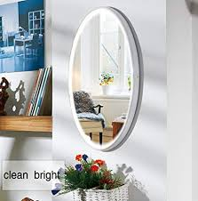 nanami makeup vanity mirror with light lighted mirror with dimmer led illuminated cosmetic mirror wall