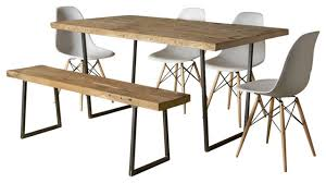 Modern Reclaimed Wood Dining Table Rustic Dining Room Table Plans Modern Rustic Dining Furniture