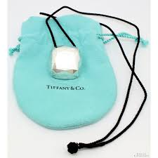 tiffany co elsa peretti faceted pendant necklace 81521a