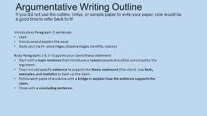 revising vs editing w can i develop and strengthen my writing by  argumentative writing outline if you did not use the outline notes or sample paper