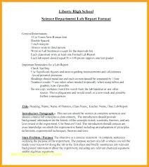 Science Report Format Lab Report Template Example Of A Chemistry Scientific Cover