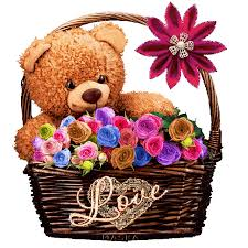 images of flowers and teddy bears with quotes.  Quotes Basketful Of Teddy Bear Love In Images Of Flowers And Bears With Quotes B