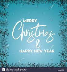 Merry Christmas And Happy New Year Snowflake Border Template