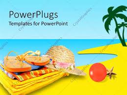 Summer Powerpoint Templates Inspirational Powerpoint Template Slipper Hat Summer Clothes