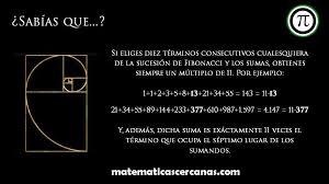 Sabías que…? sobre la sucesión de Fibonacci – MatematicasCercanas