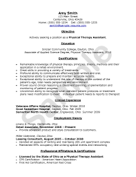 Sample Pt Resume Resume Format For Physiotherapist Job Physical Therapy Resume 6