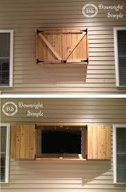 W Downright Simple Outdoor TV Cabinet For 50