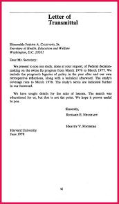 Letter Of Transmittal Template Thesis Transmittal Letter