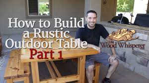 208 How to Build a Rustic Outdoor Table Part 1 of 2 YouTube