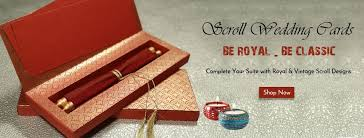 Scroll Wedding Cards Indianweddingcards Office Photo