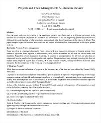 Example Of Literature Essays Example Of Literature Review Essay Dew Drops