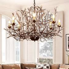 led k9 crystal chandeliers lighting european american creative retro country led pendant chandelier living room study room bedroom pendant chandelier shabby