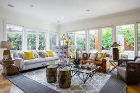 modern eclectic decor living room beach style with modern rug gray geometric area r