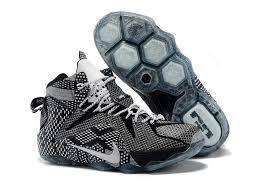 lebron shoes 12 black. 2017 nike lebron 12 \u0027bhm\u0027 black white grey shoes
