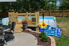 intex above ground pool decks. Plain Ground Above Ground Intex Pool Decks Intended D