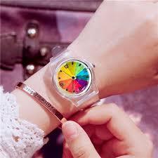 <b>Transparent Clock Silicon</b> Watch Women Sport Casual Quartz ...