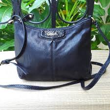 Coach Black Leather Small Crossbody Swingpack