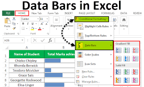 Excel In Cell Bar Chart Data Bars In Excel How To Add Data Bars Using Conditional