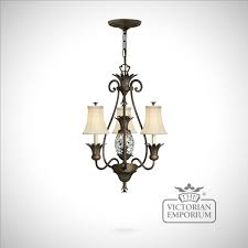 plantation style 3 light chandelier