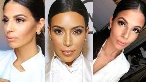 kim kardashian neutral glam everyday makeup