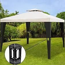 garden gazebo. Poly Rattan Garden Gazebo 3x4m 12sqm Outdoor Pavilion Party Marquee Reception Tent Cream Black D
