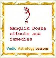 Manglik Dosha Kuja Dosha Effects And Remedies