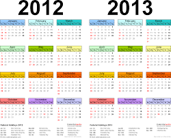 The Year Calendar 2012 2013 Calendar Free Printable Two Year Pdf Calendars