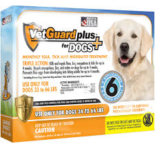 Vetguard Plus Dosage Chart Vetguard Plus For Large Dogs 6 Month Supply 34 66 Lbs