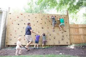 backyard rock climbing wall things to