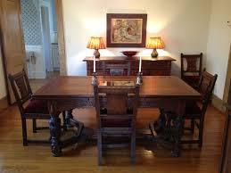 Vintage 1930s Jamestown Furniture pany Feudal Oak Dining Room