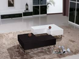... Black And White Twin Modern Glossy Finish Wood L Shaped Coffee Table  Designs Ideas ...
