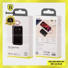 Pin sạc dự phòng sạc nhanh tích hợp cáp sạc Baseus Mini S Digital Display  (3A/15W, PD/QC, 10.000mAh) - Sạc dự phòng