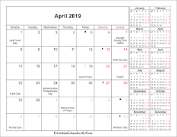 april calendar april 2019 calendar printable with holidays pdf and jpg