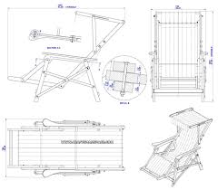 beach chair plan assembly drawing