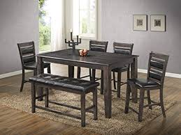 best quality dining room furniture. Best Quality Furniture D412Set6PC Dining Set Faux Leather Upholstered  Counter Height Bench 6PC, Light Espresso Best Quality Dining Room Furniture E
