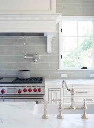 White Cabinets Backsplash Smoke Glass Subway Tile Subway Tile Backsplash Grey And Cabinets