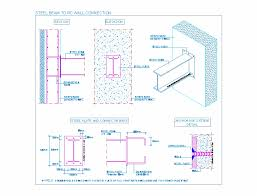 Steel Beam To Rc Wall Connection Steel Beam To Rc Column