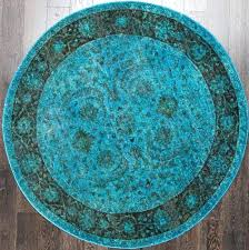 teal overdyed rug traditional vintage inspired fl turquoise round rug cm renaissance overdyed teal gray area teal overdyed rug