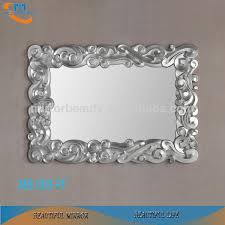 awesome large silver wall mirror classic leaf interior pu framed for home p u decoration clock art
