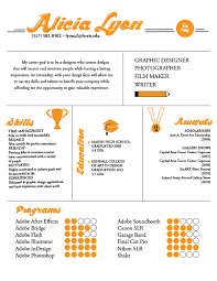 examples of creative graphic design resumes infographics resume examples 2012