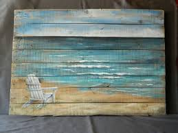 large handpainted beach scene seascape by thewhitebirchstudio on wooden beach themed wall art with large handpainted beach scene seascape by thewhitebirchstudio