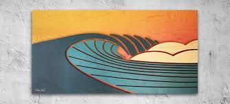 san go surf art wood wall