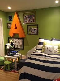Crafty Mama Serena and lily Big boy room Green, navy, white, orange Big
