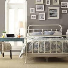 white iron bed frame | // rooms/decor | Bedroom, Metal beds, Bed Frame