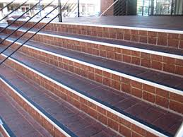 exterior stair treads and nosings. stair tread project example - black on brick steps exterior treads and nosings