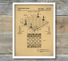 on poster board wall art with chess game patent poster board game art game room wall art