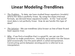 14 linear modeling trendlines lsp 120 quantitative reasoning and technological literacy topic 1